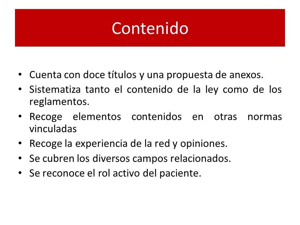 Contenido Cuenta con doce títulos y una propuesta de anexos.