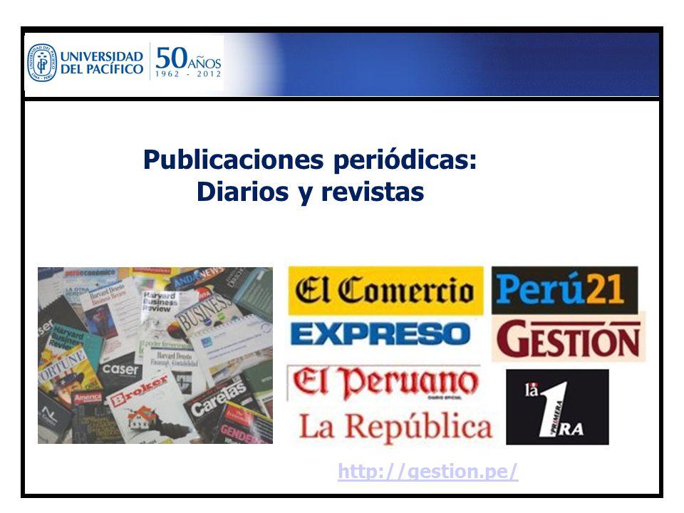 Publicaciones periódicas:
