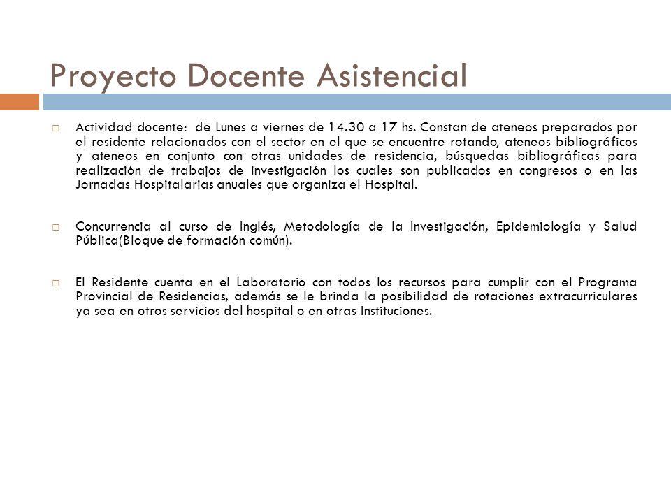 Proyecto Docente Asistencial