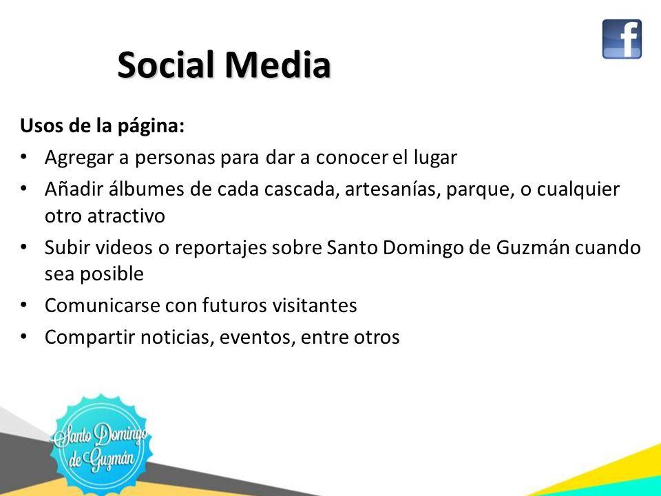 Social Media Usos de la página: