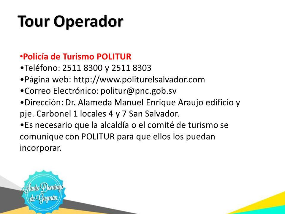 Tour Operador Policía de Turismo POLITUR