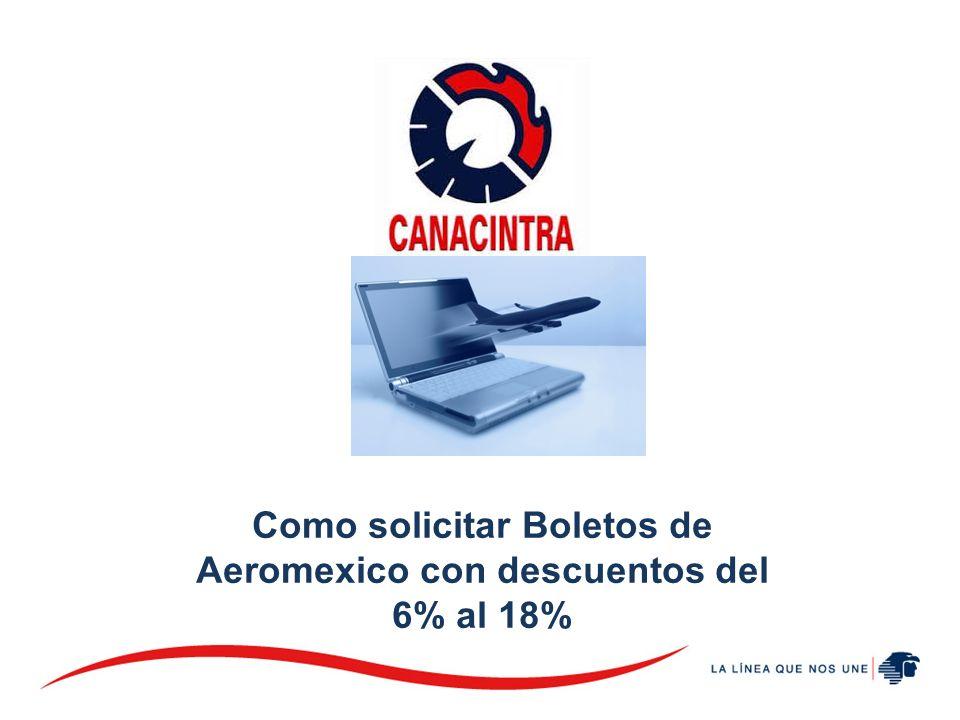 Como solicitar Boletos de Aeromexico con descuentos del