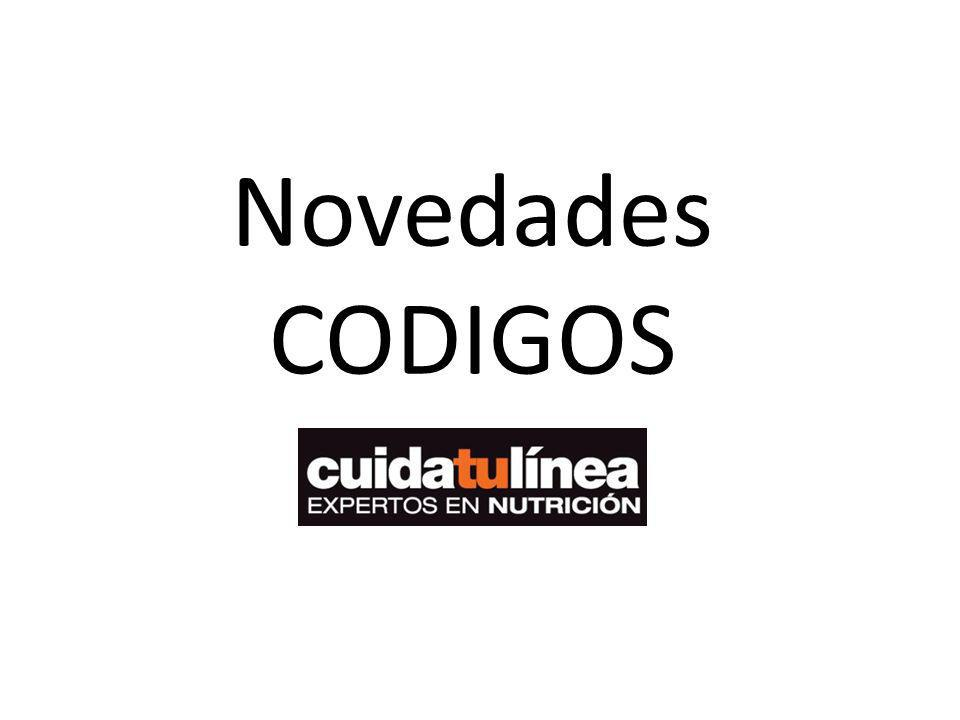 Novedades CODIGOS