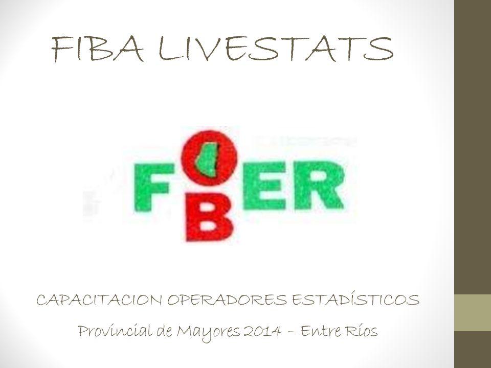 FIBA LIVESTATS CAPACITACION OPERADORES ESTADÍSTICOS