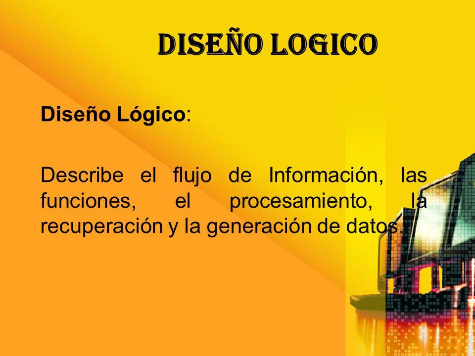 Diseño LOGICO Diseño Lógico: