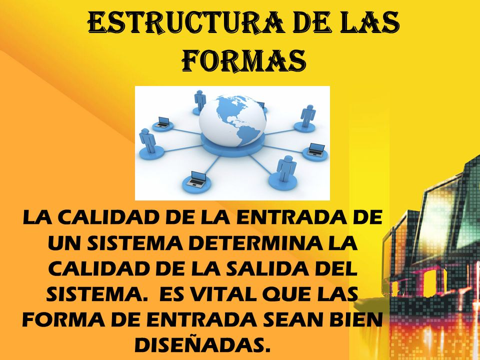 estructura DE las FORMAS