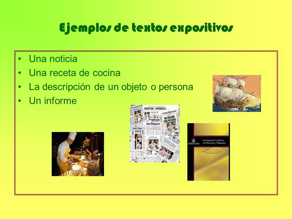 Ejemplos de textos expositivos