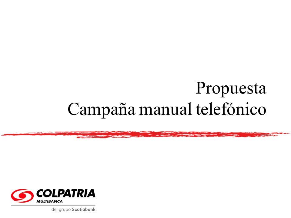 Propuesta Campaña manual telefónico