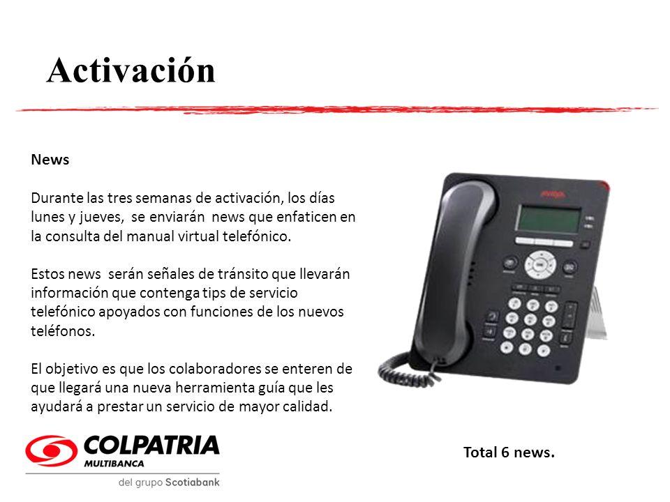 Activación News Total 6 news.