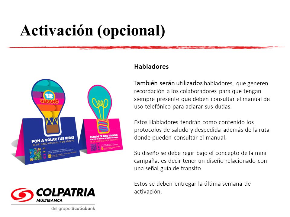 Activación (opcional)
