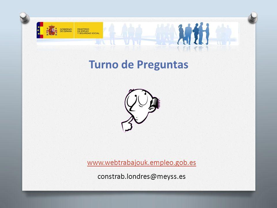 Turno de Preguntas www.webtrabajouk.empleo.gob.es