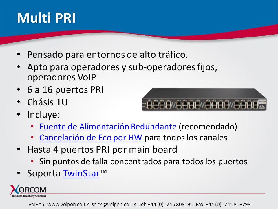 Multi PRI Pensado para entornos de alto tráfico.