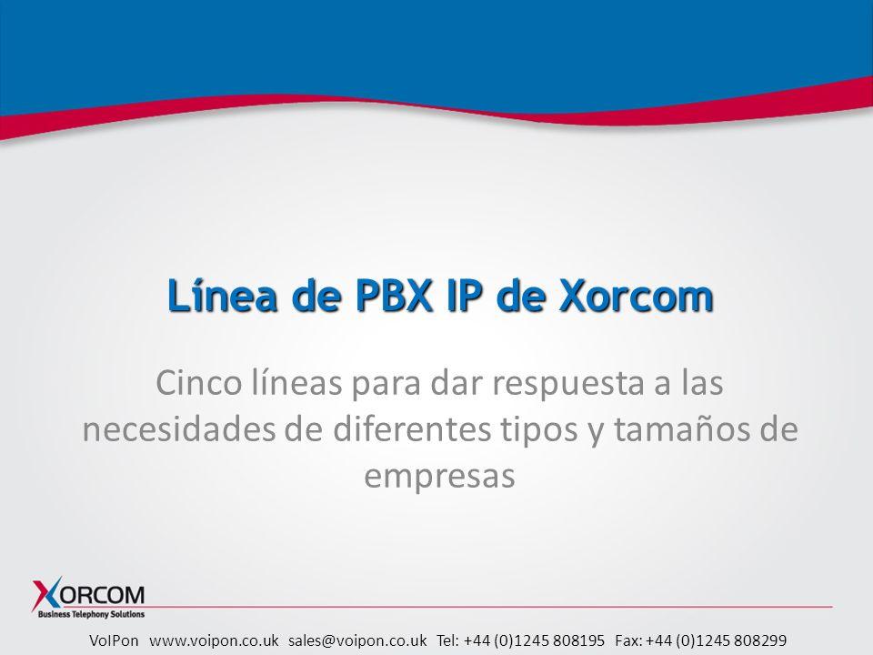 Línea de PBX IP de Xorcom