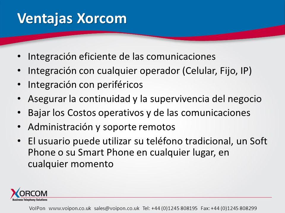 Ventajas Xorcom Integración eficiente de las comunicaciones