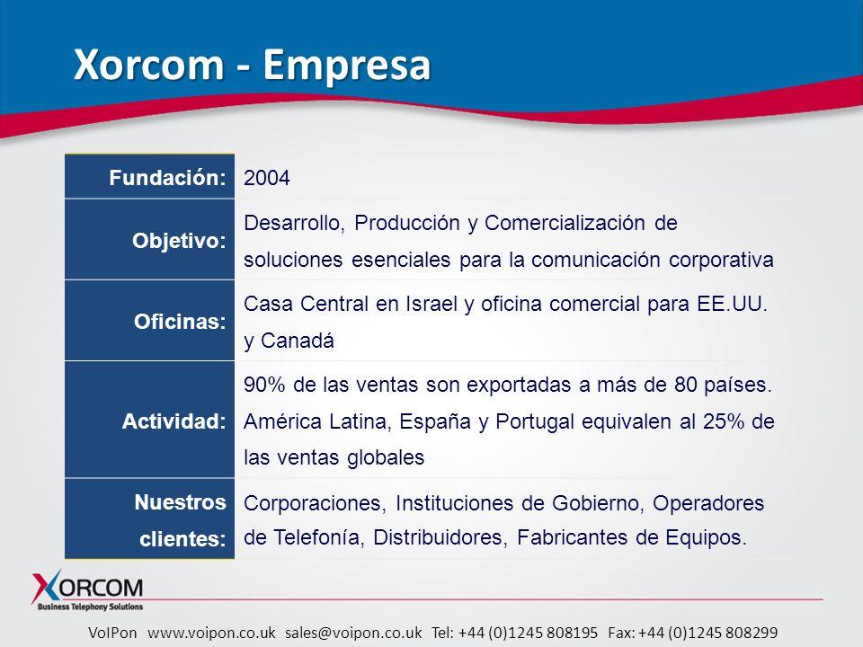 Xorcom - Empresa 2004 Fundación: