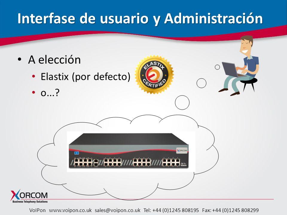 Interfase de usuario y Administración
