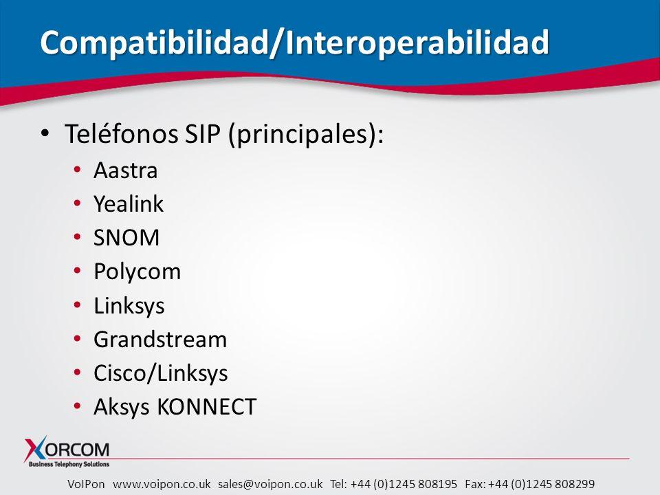 Compatibilidad/Interoperabilidad