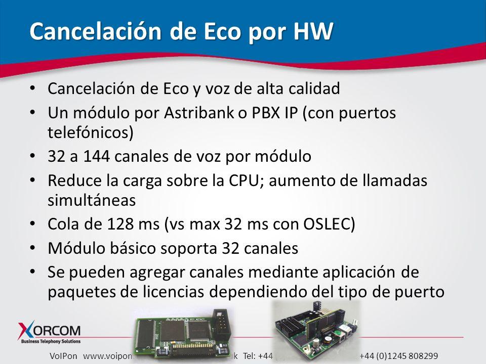 Cancelación de Eco por HW