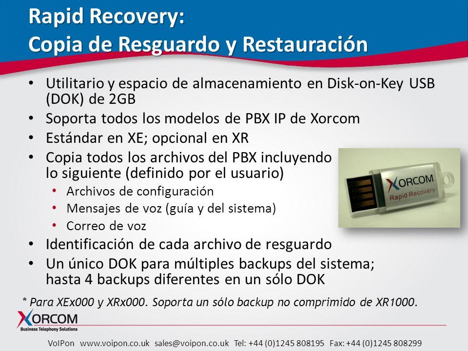 Rapid Recovery: Copia de Resguardo y Restauración