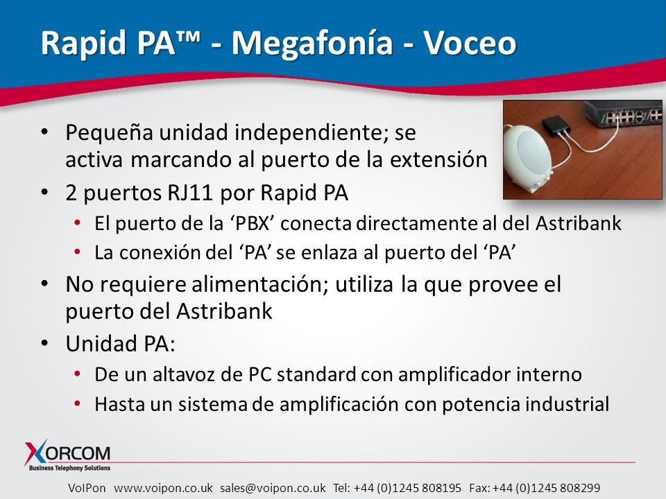 Rapid PA™ - Megafonía - Voceo