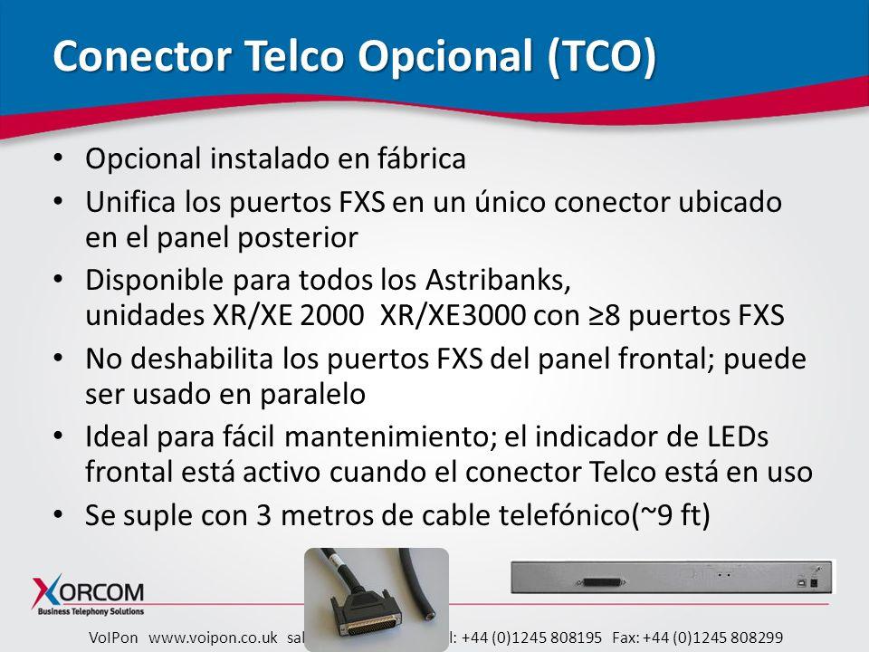 Conector Telco Opcional (TCO)