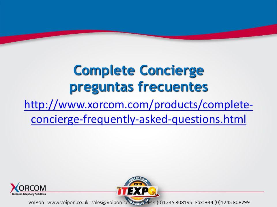 Complete Concierge preguntas frecuentes