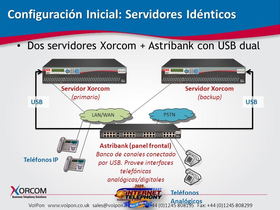 Configuración Inicial: Servidores Idénticos