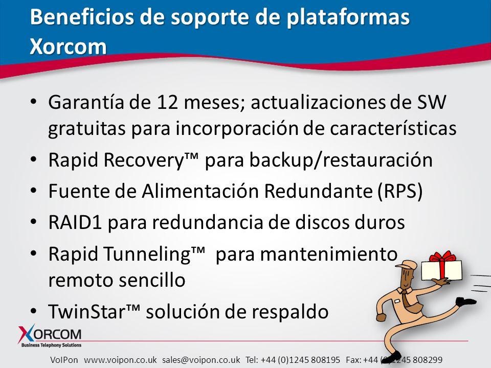 Beneficios de soporte de plataformas Xorcom