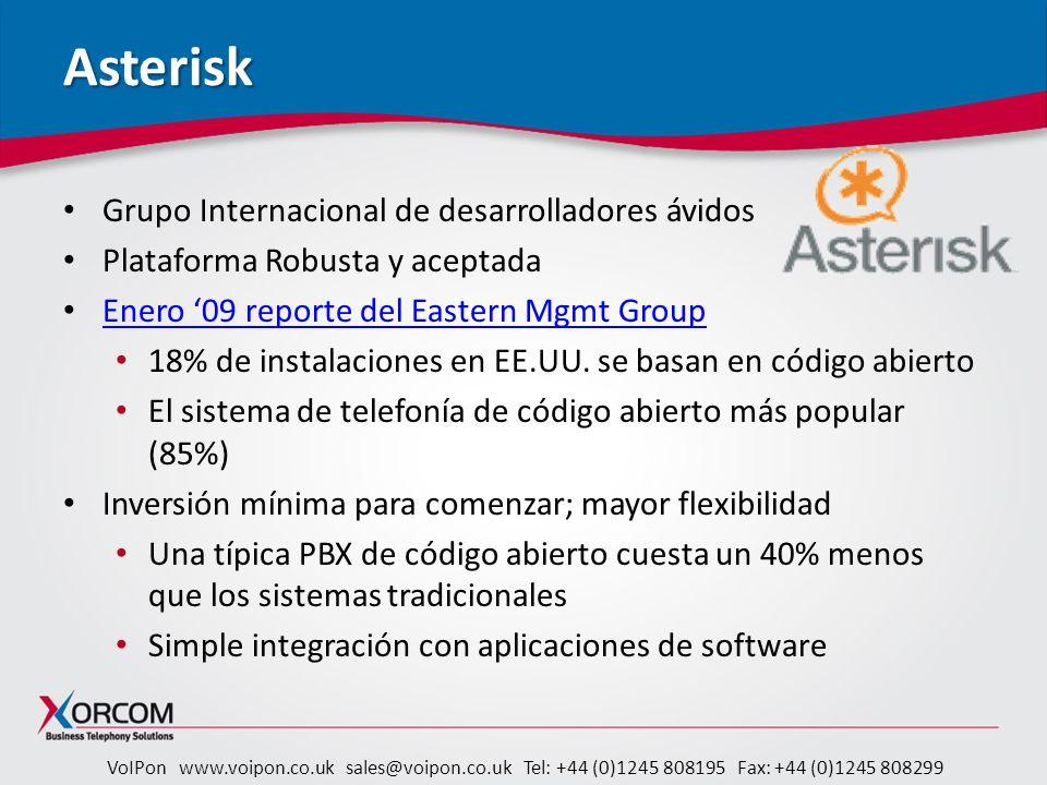 Asterisk Grupo Internacional de desarrolladores ávidos