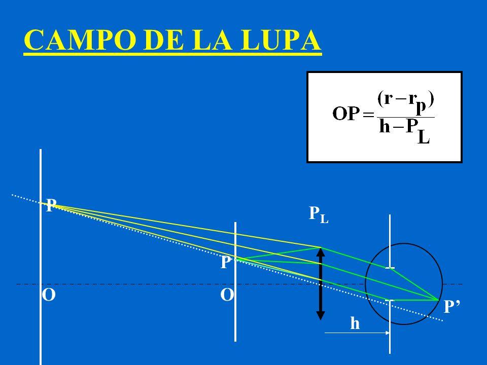 CAMPO DE LA LUPA P PL P O O P' h