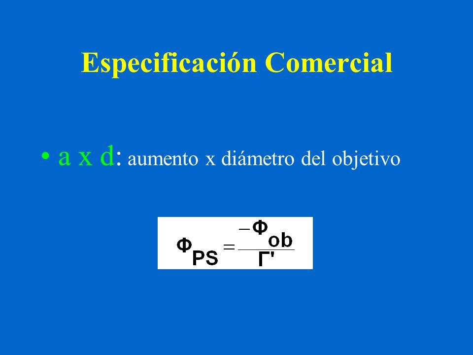Especificación Comercial