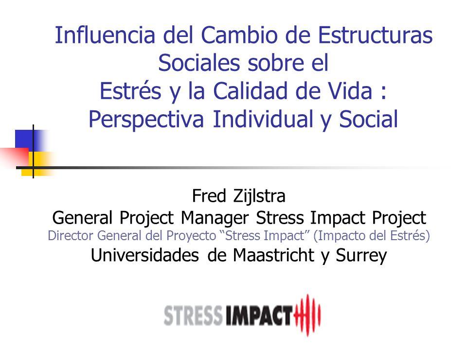 Influencia del Cambio de Estructuras Sociales sobre el Estrés y la Calidad de Vida : Perspectiva Individual y Social