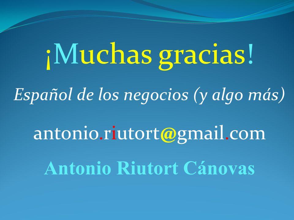 ¡Muchas gracias! Español de los negocios (y algo más)