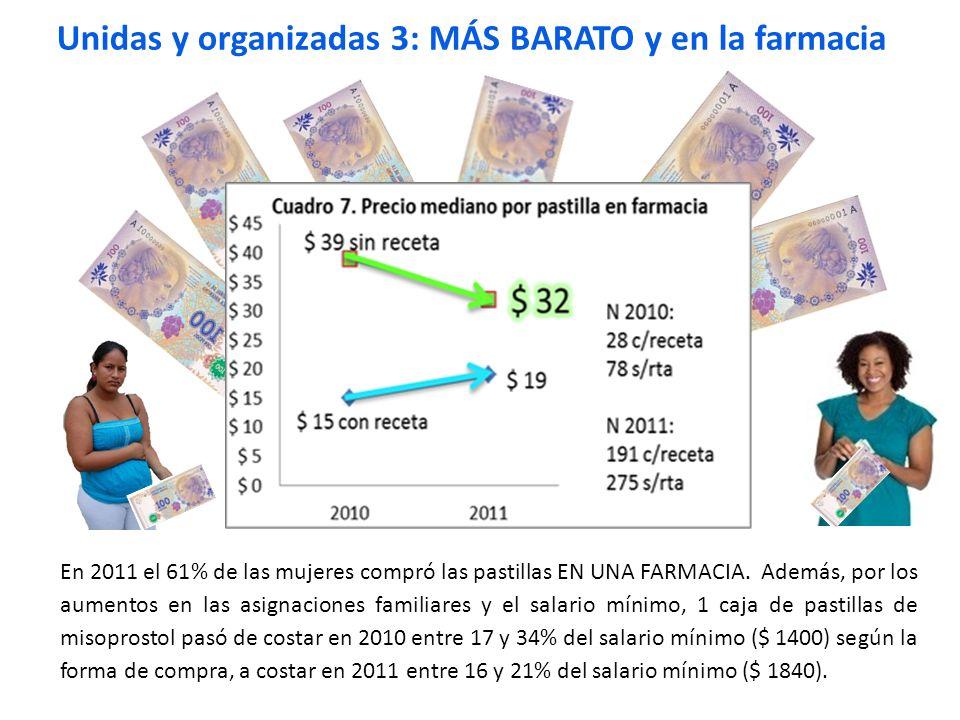 Unidas y organizadas 3: MÁS BARATO y en la farmacia
