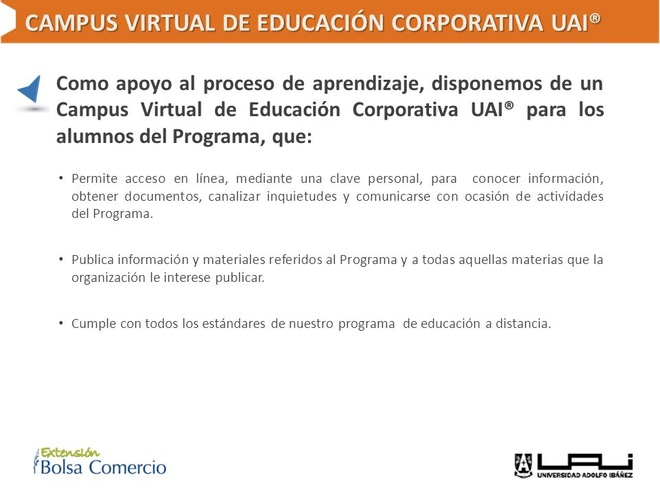 CAMPUS VIRTUAL DE EDUCACIÓN CORPORATIVA UAI®
