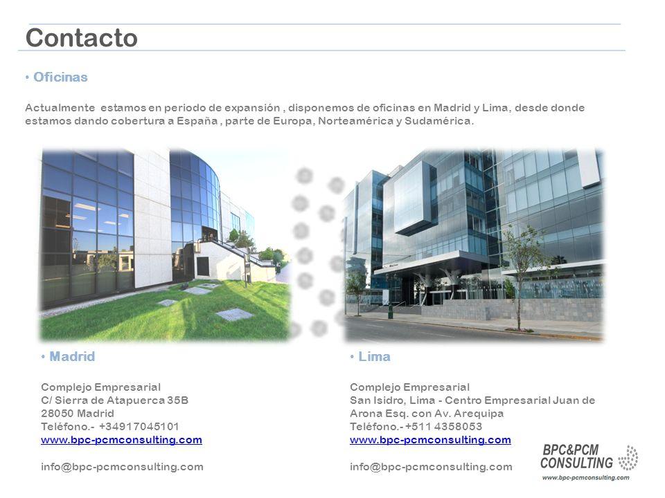 Contacto Oficinas Madrid Lima