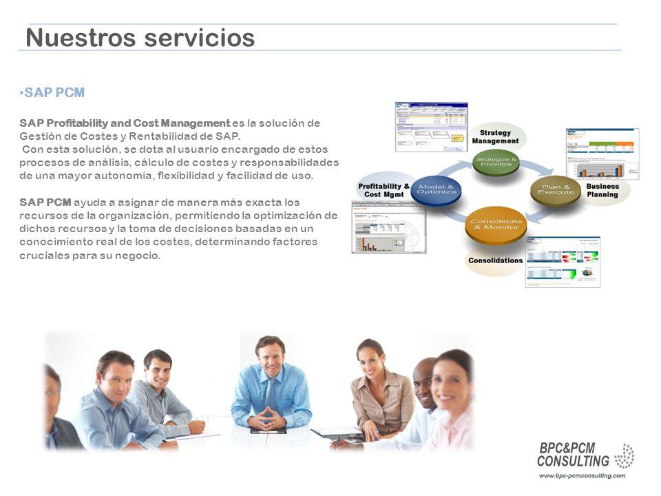 Nuestros servicios SAP PCM