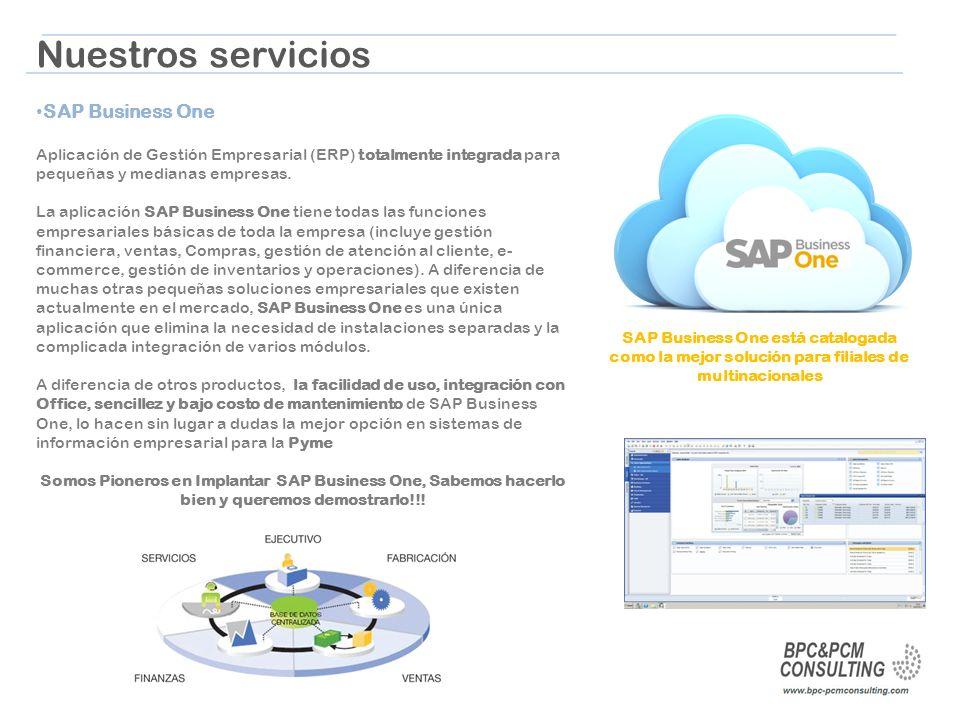 Nuestros servicios SAP Business One