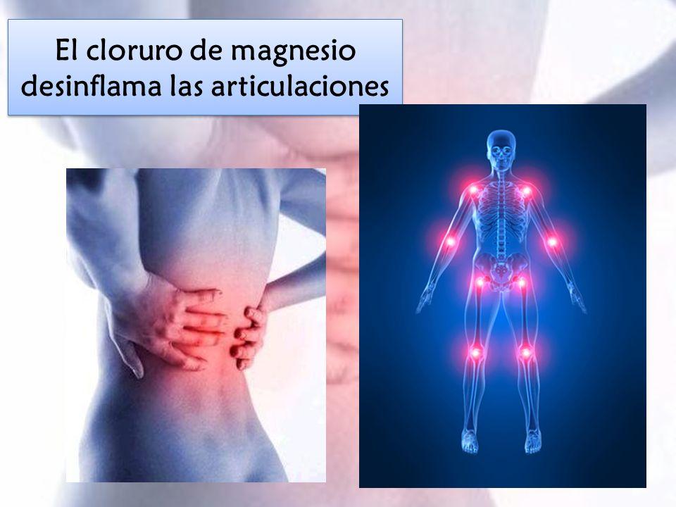 El cloruro de magnesio desinflama las articulaciones