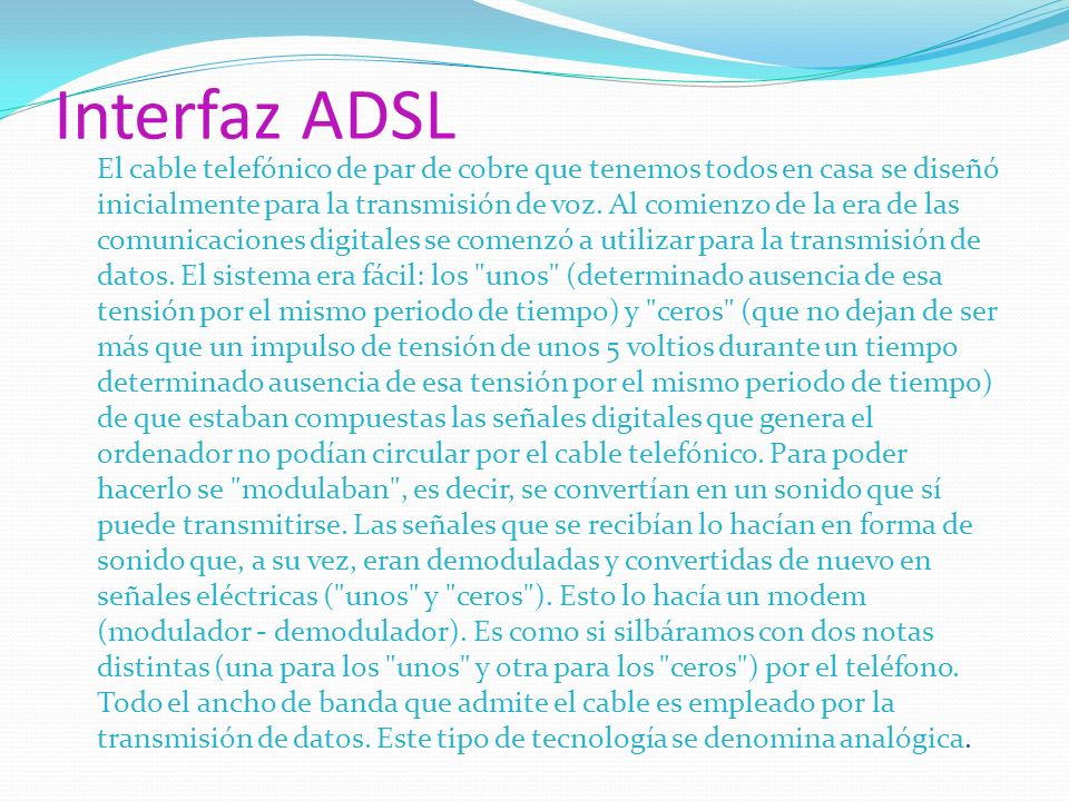 Interfaz ADSL