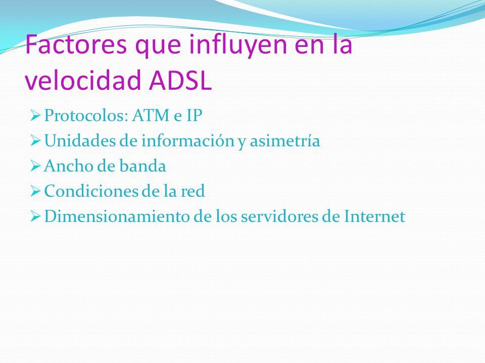 Factores que influyen en la velocidad ADSL