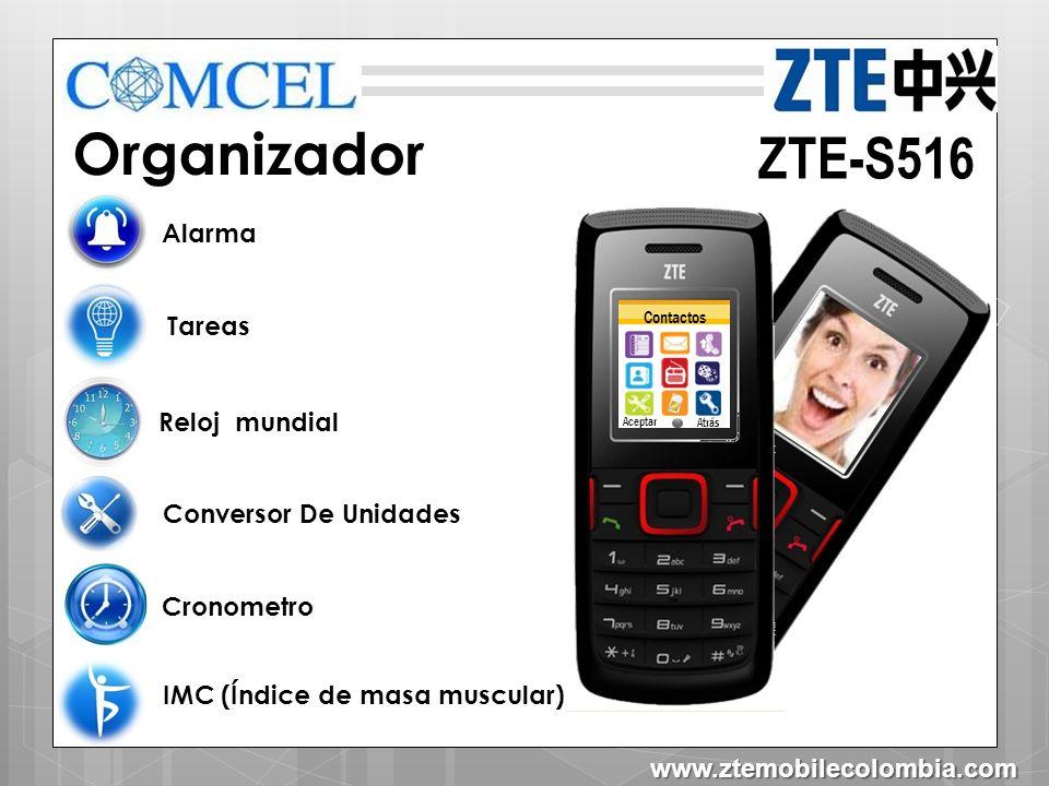 Organizador ZTE-S516 Alarma Tareas Reloj mundial Conversor De Unidades