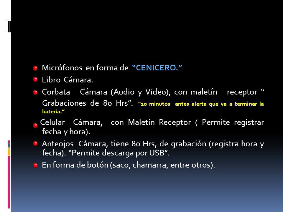 Micrófonos en forma de CENICERO. Libro Cámara