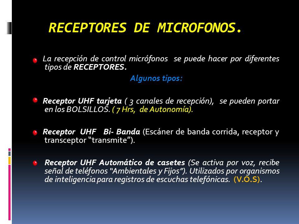 RECEPTORES DE MICROFONOS.