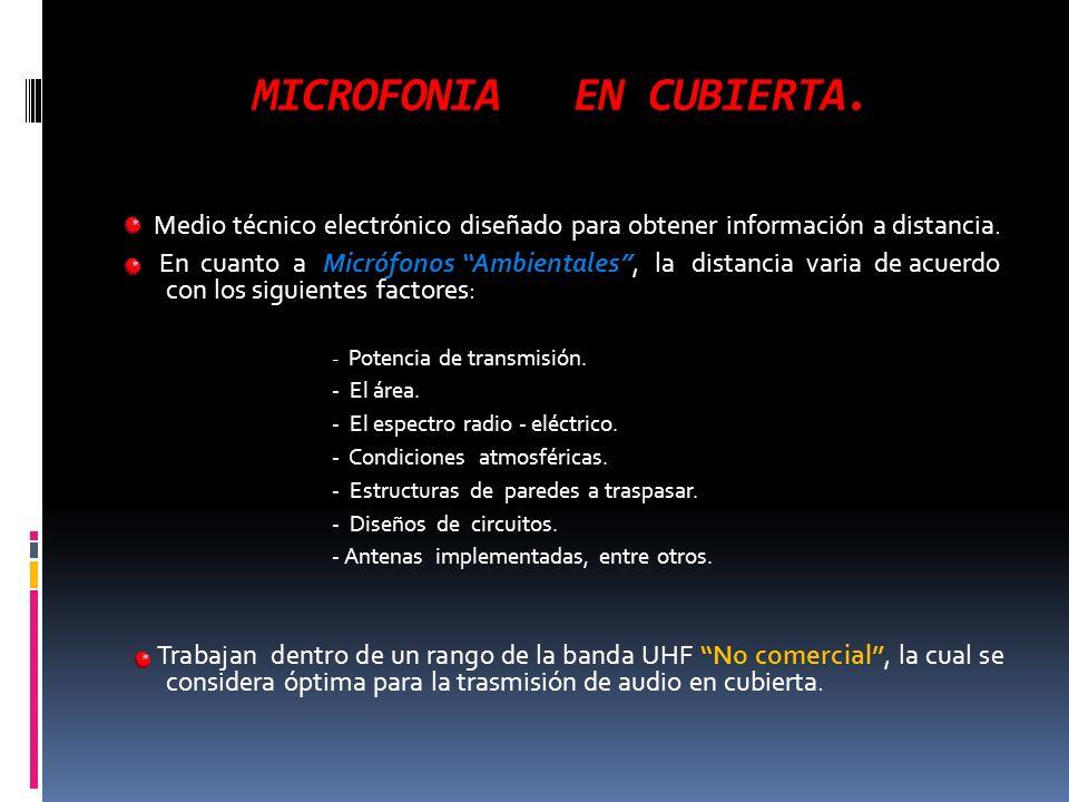 MICROFONIA EN CUBIERTA.