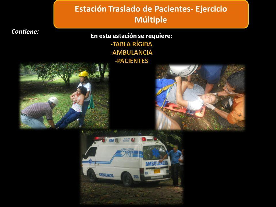 6 4 3 2 1 5 Estación Traslado de Pacientes- Ejercicio Múltiple