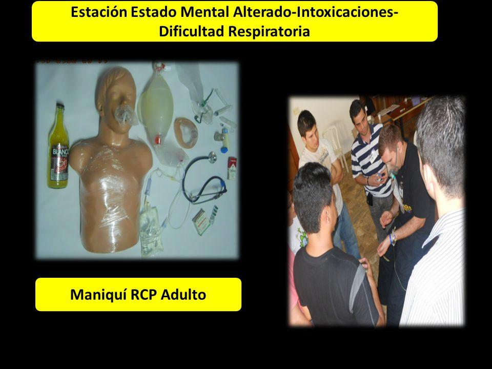 Estación Estado Mental Alterado-Intoxicaciones- Dificultad Respiratoria