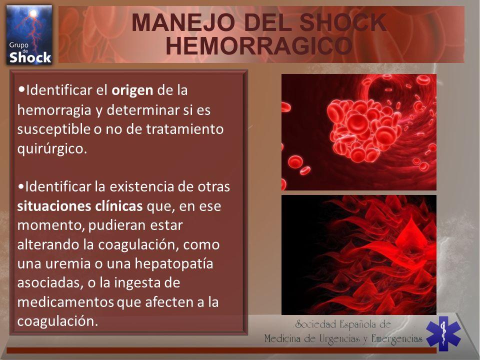 MANEJO DEL SHOCK HEMORRAGICO