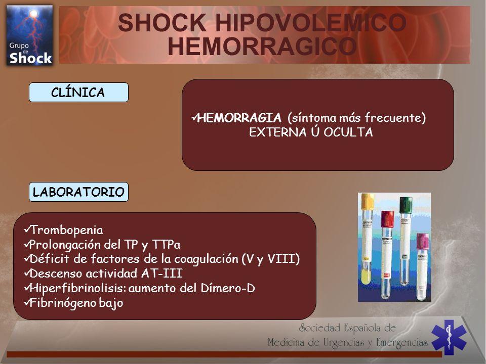 SHOCK HIPOVOLEMICO HEMORRAGICO