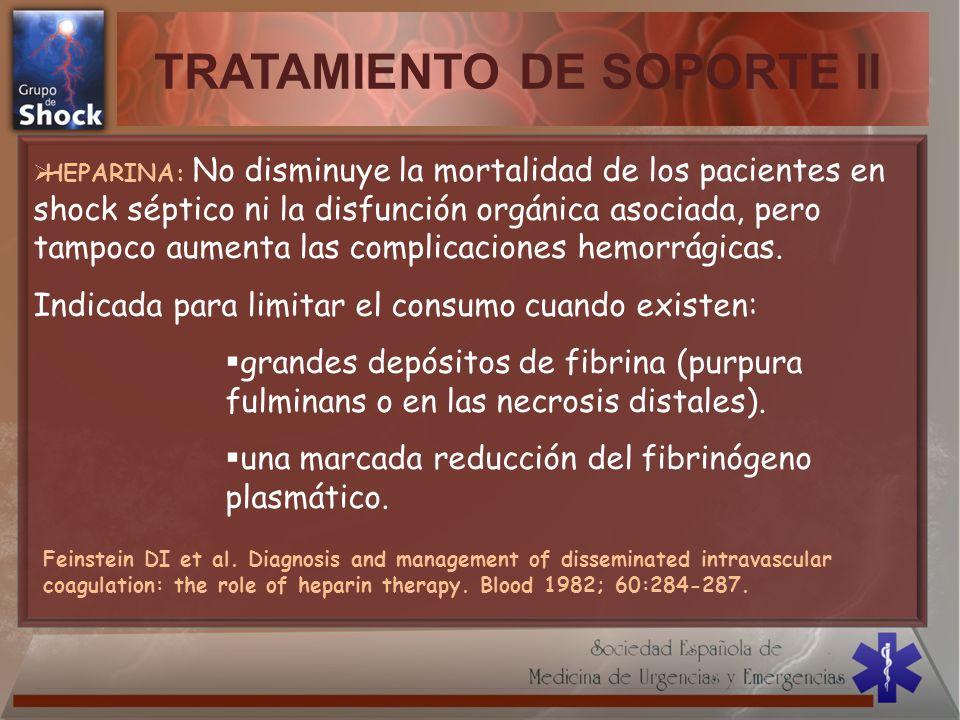 TRATAMIENTO DE SOPORTE II